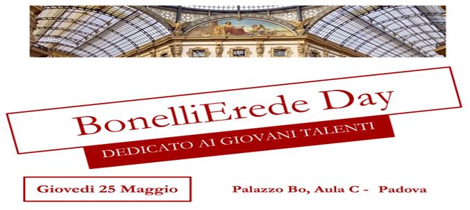 Bonelli Erede day - dedicato ai giovano talenti - 25 maggio 2017