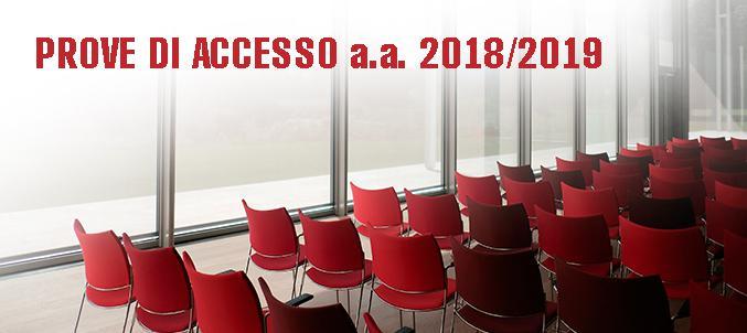PROVE DI ACCESSO a.a. 2018/2019
