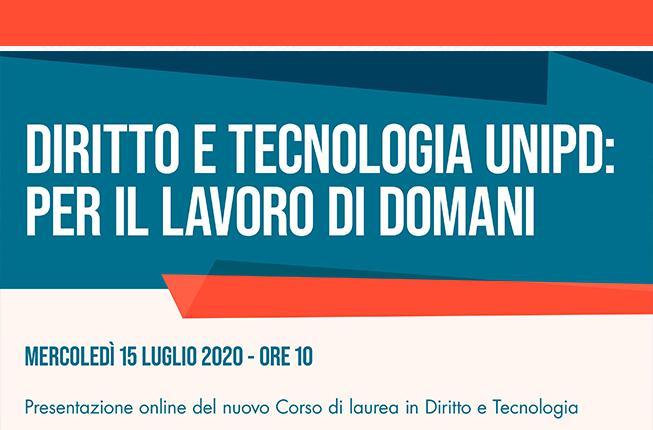 Collegamento a  Presentazione online nuovo Corso di laurea - Diritto e Tecnologia
