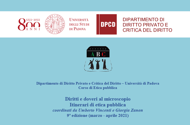 Collegamento a Diritti e doveri al microscopio Itinerari di etica pubblica