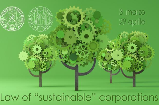 Collegamento a The Law of the «sustainable» corporations (INCONTRI INFORMATIVI 15 E 22 GENNAIO)
